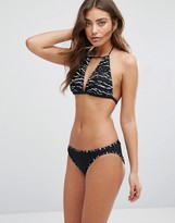 French Connection Tapir Wave Print Halter Bikini Set