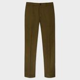 Paul Smith Men's Slim-Fit Khaki Stretch-Cotton Chinos