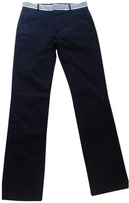 Paul & Joe Black Cotton Trousers for Women