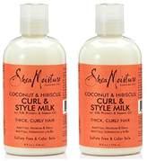 Shea Moisture Coconut & Hibiscus Curl & Style Milk 8 oz (2 Pack)