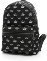 Dolce & Gabbana Nylon Backpack With Crown Print