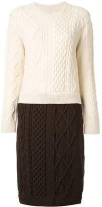 Coohem aran patchwork jumper