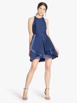 Halston Faille / Satin Combo Structured Dress