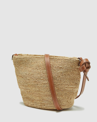 Oxford Laurel Hand Knotted Straw Bag