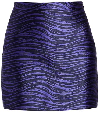 Andamane Bertha Tiger-Print Skirt