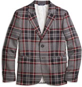 Brooks Brothers Two-Button Plaid Wool Suit Jacket