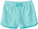 Jumping Beans Baby Girl Jumping Beans® Slubbed Pom-Trim Shorts
