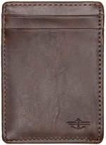 Dockers Wide Magnetic Front Leather Wallet - Men's