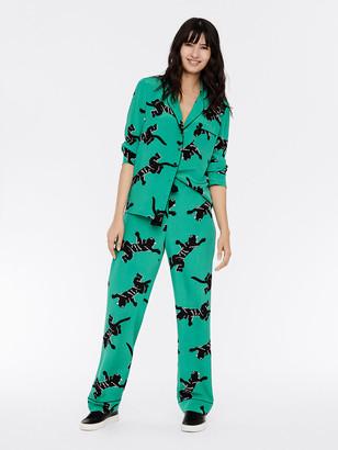 Diane von Furstenberg Veronica Silk Crepe de Chine Pajama Pants