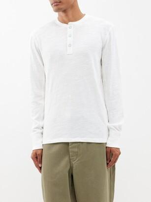 Rag & Bone Classic Slubbed Cotton-jersey Henley T-shirt - White