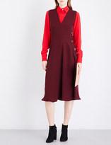 Roksanda Hiroko V-neck silk-georgette midi dress