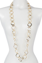 Natasha Accessories Open Chain Link Long Necklace