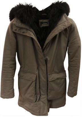 The Kooples Khaki Fur Coat for Women