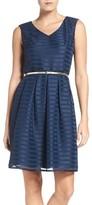 Ellen Tracy Petite Women's Satin Fit & Flare Dress