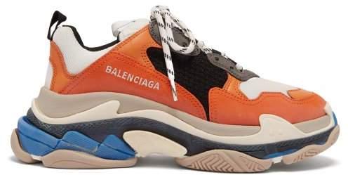 Balenciaga Triple S Low Top Trainers - Womens - Orange White