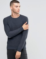 Sisley Crew Neck Sweater with Elbow Patch