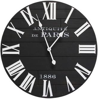 Stratton Home Rustic Wood Clock