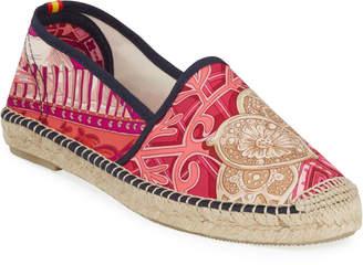 Hermes Respoke Isadora Flat Silk Espadrilles