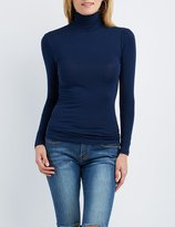 Charlotte Russe Ruched Turtleneck Top