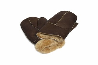 Brandslock Unisex Soft Thick 100% Sheepskin Leather Mittens Ideal For Winter (Large
