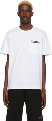 Givenchy White Fused Tape T-Shirt