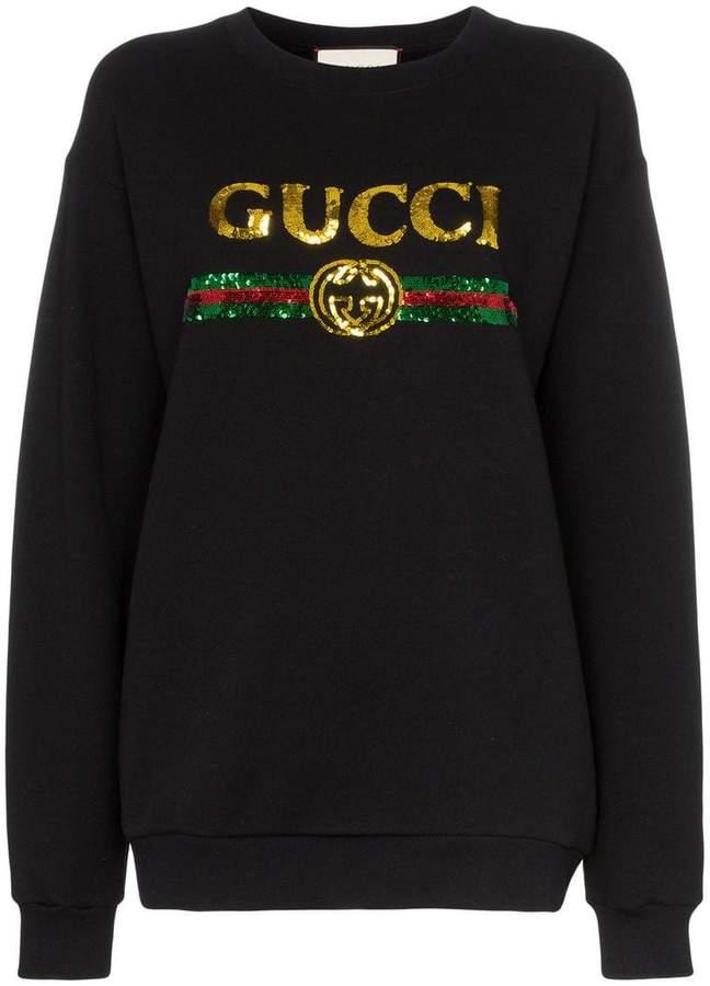 cc59e1b3296 Gucci Women s Sweatshirts - ShopStyle