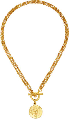 Ben-Amun Gold-Plated Double-Chain Coin Necklace