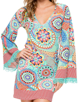 Luli Fama Mariposita Caribeña Boheme Tunic In Multi-Color (L480853)