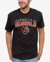 Junk Food Clothing Men's Cincinnati Bengals Split Arch T-Shirt