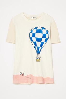 Lanvin Paneled Printed Cotton-jersey T-shirt - White
