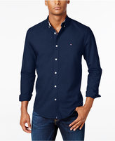 Tommy Hilfiger New England Solid Long-Sleeve Custom-Fit Oxford Shirt
