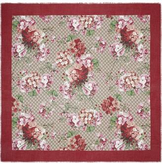 Gucci GG Supreme Blooms scarf
