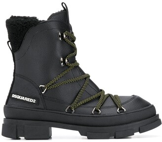 DSQUARED2 Logo Patch Combat Boots