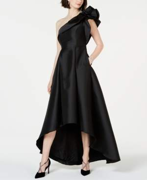 Adrianna Papell One-Shoulder High-Low Gown