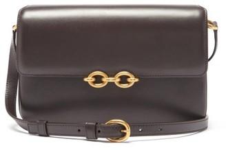 Saint Laurent Le Maillon Medium Leather Shoulder Bag - Dark Brown