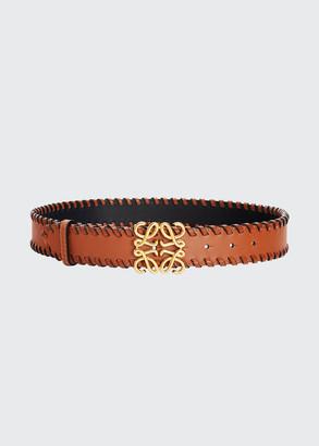 Loewe Anagram Braided Leather Belt