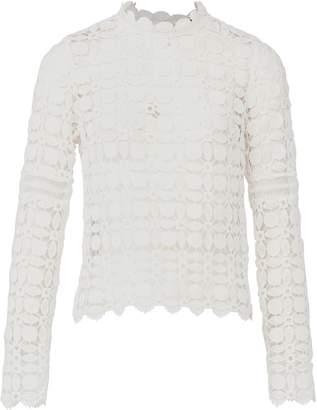 Dorothy Perkins Womens *Izabel London White Sheer Crochet Blouse, White