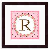 "Bed Bath & Beyond Monogram Rose Initial ""R"" Wall Art"