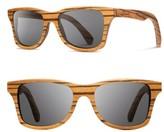 Shwood Women's 'Canby' 48Mm Polarized Sunglasses - Zebrawood/ Grey