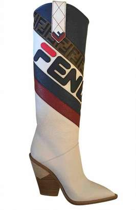 Fendi Cowboy Multicolour Leather Boots