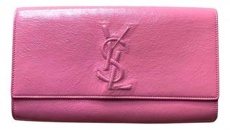 Saint Laurent Belle de Jour Pink Patent leather Clutch bags