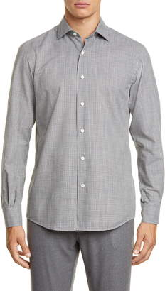 Ermenegildo Zegna Slim Fit Check Button-Up Shirt