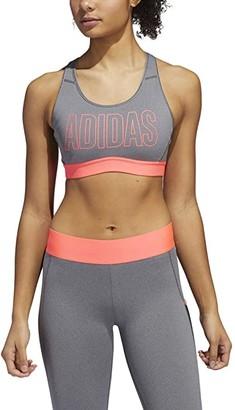 adidas Dont Rest Alphaskin Sport Bra (Dark Grey Heather/Signal Pink) Women's Bra