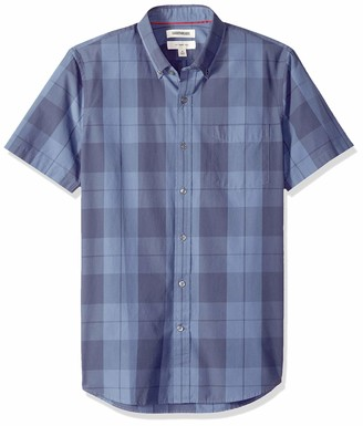 Goodthreads Men's Slim-Fit Short-Sleeve Large-Scale Plaid Shirt