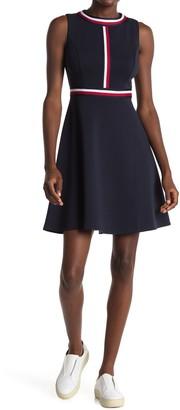 Tommy Hilfiger Global Stripe Ponte Fit & Flare Dress