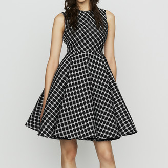 Maje Sleeveless plaid skater dress
