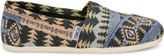Toms Blue Multi Tribal Woven Women's Classics
