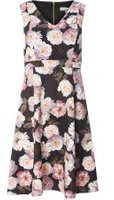Dorothy Perkins Womens Petite Floral Prom Dress- Pink