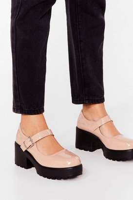 Nasty Gal Womens Shoe Run's the World Patent Mary Jane Shoes - Nude