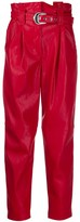 Pinko Carrot-fit faux-leather trousers